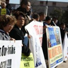 Group protests new immigration bills
