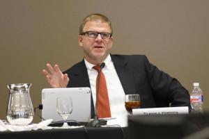 Board of Regents Chairman Tillman Fretitta at Thursday's Board of Regents meeting. | Justin Tijerina/The Cougar