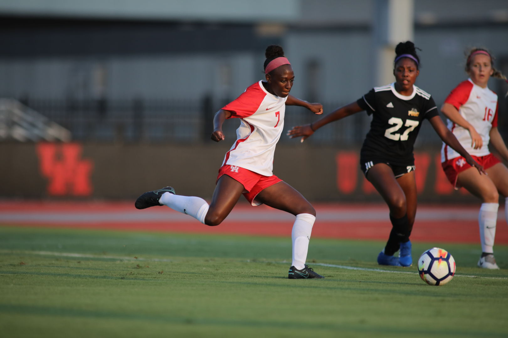 Senior forward Desiree Bowen scored Houston's second goal to put the Cougars up 2-0 in the first half. | File photo