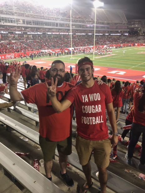 """#YaWooCougarFootball Shirts with """"YA WOO COUGAR FOOTBALL"""" started appearing soon after the Reddit post. 