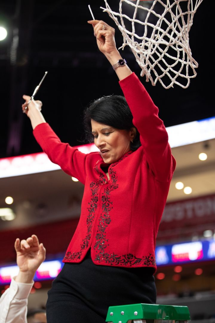 student athlete President Renu Khator joined 21 other NCAA representatives in September in urging California Gov. Gavin Newsom to not sign a bill aimed at allowing student-athletes to profit off their names, likenesses and images. | File photo