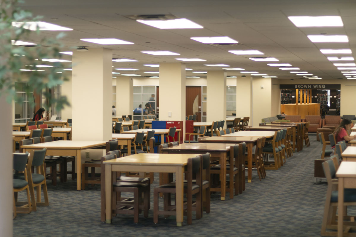 Limited computers and distanced furniture are some adjustments M.D. Anderson Libary will take when reopening. | File photo