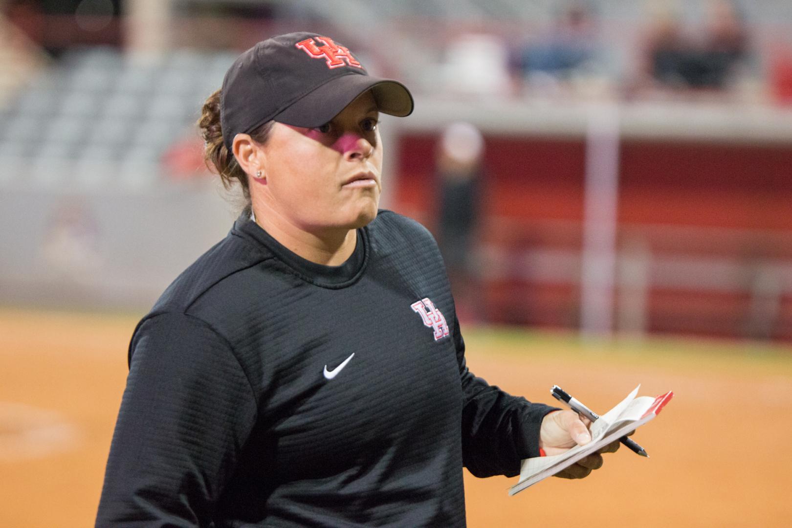 Softball head coach Kristin Vesely had led the Cougars to three 30-win campaigns before the 2020 season | Katrina Martinez/The Cougar