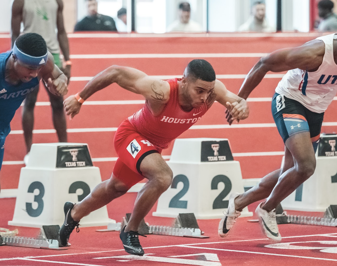 In last season's AAC Championships, UH track and field senior sprinter Travis Collins was able to post a career-best 6.61 in the 60-meter competition. | Courtesy of UH athletics