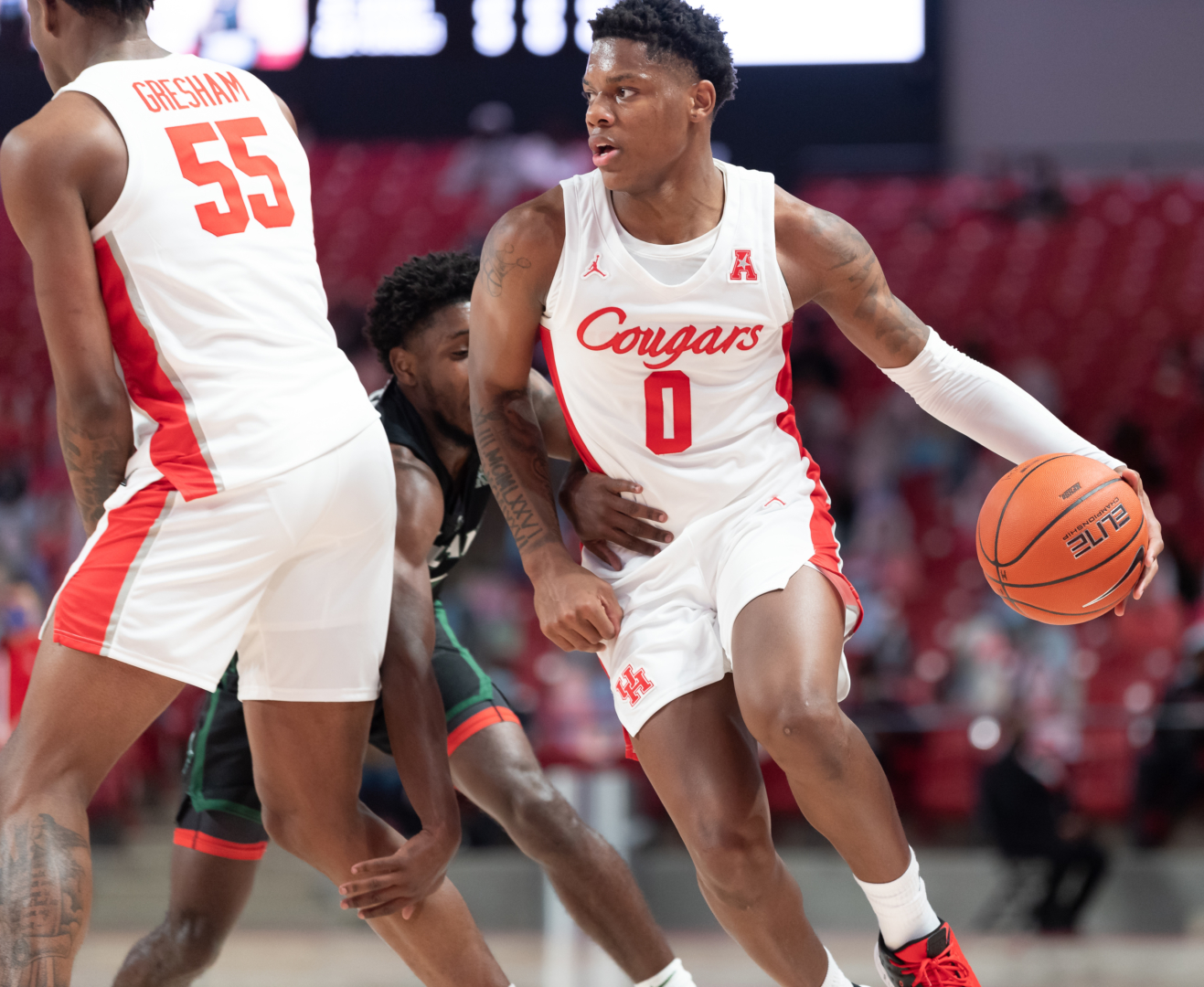 Sophomore guard Marcus Sasser had a career-high 28 points in Houston's win over Tulane   Courtesy of UH athletics