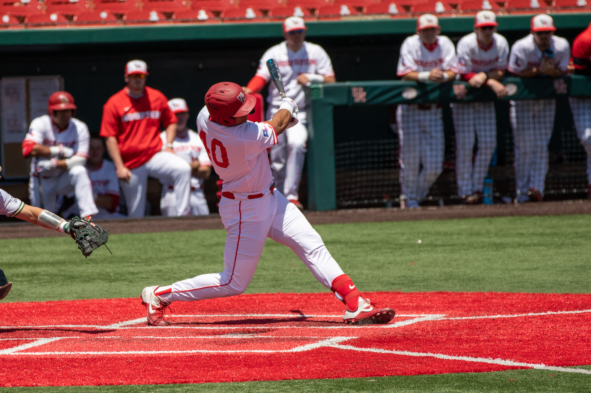 Junior first baseman Ryan Hernandez launched his eighth home run of the season in UH baseball's 6-5 victory over Cincinnati on Saturday. | Andy Yanez/The Cougar