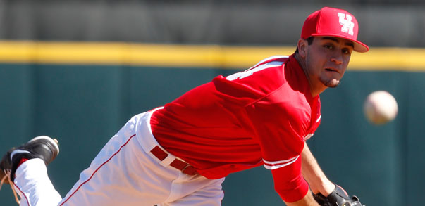 Left-handed pitcher Daniel Ponce de Leon had 62 strikeouts against opposing batters in the 2013 season when he was with the Cougars. He is one of multiple Houston baseball alumni that are participating in the MLB's second spring training as it looks to prepare for its 60-game 2020 season . | Courtesy of UH Athletics