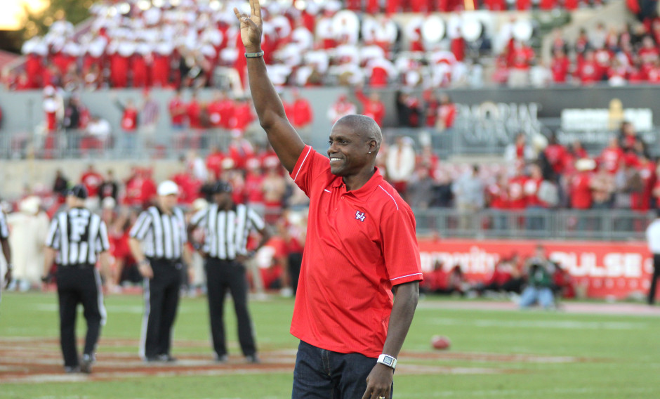 Carl Lewis amassed six NCAA titles while competing at UH. | File Photo
