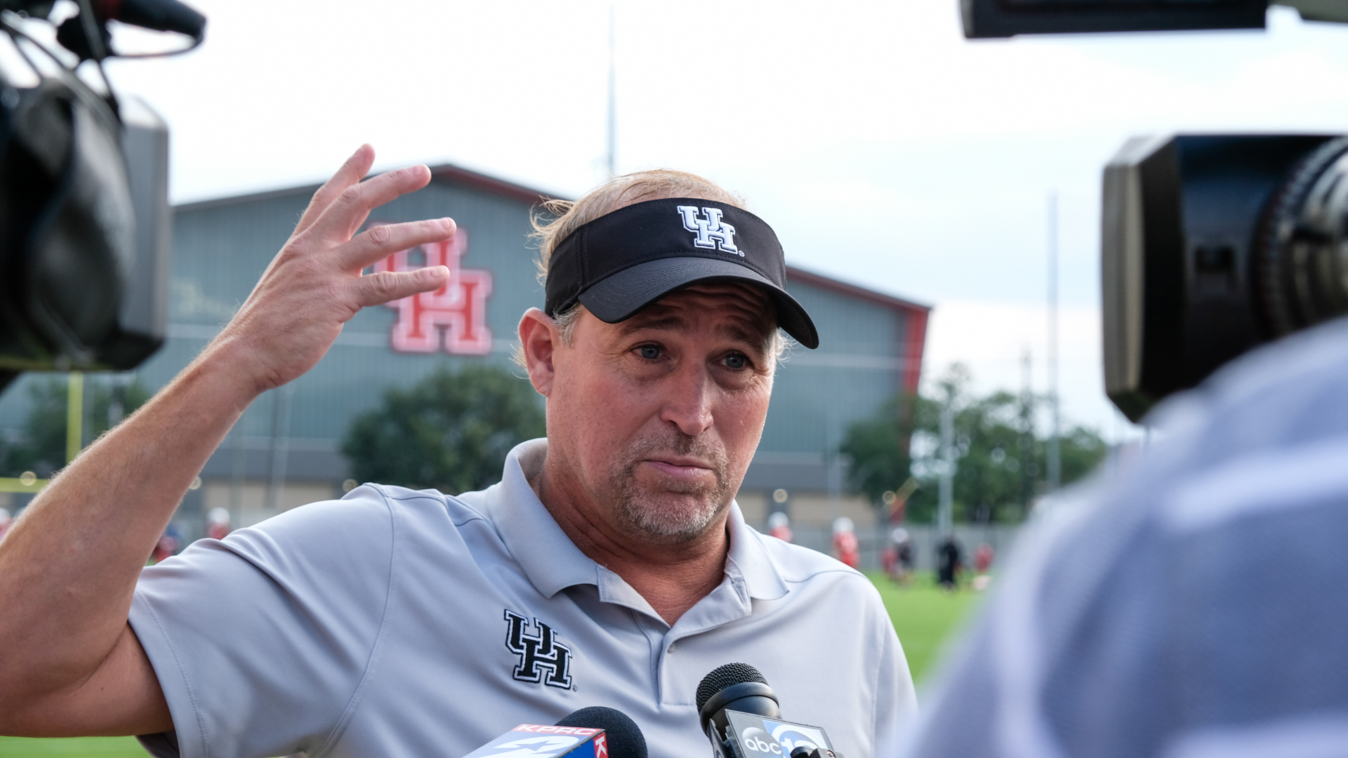 Head coach Dana Holgorsen is heading into his first year at the helms of the Cougars. | Kathryn Lenihan/The Cougar