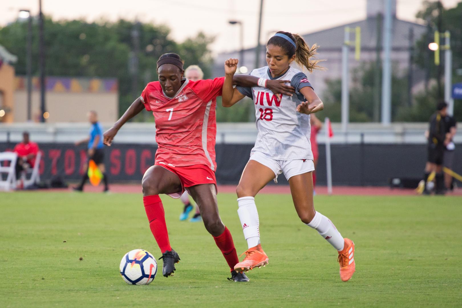 Senior forward Desiree Bowen scored the lone goal in Houston's 2-1 overtime defeat. | File photo