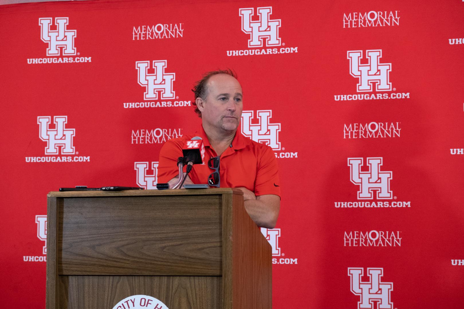 Despite a 2019 losing season, head football coach Dana Holgorsen looks optimistically forward to the upcoming 2020 season. The 3-7 losing 2019 record is the Cougars' worst since 2012. | Kathryn Lenihan/The Cougar