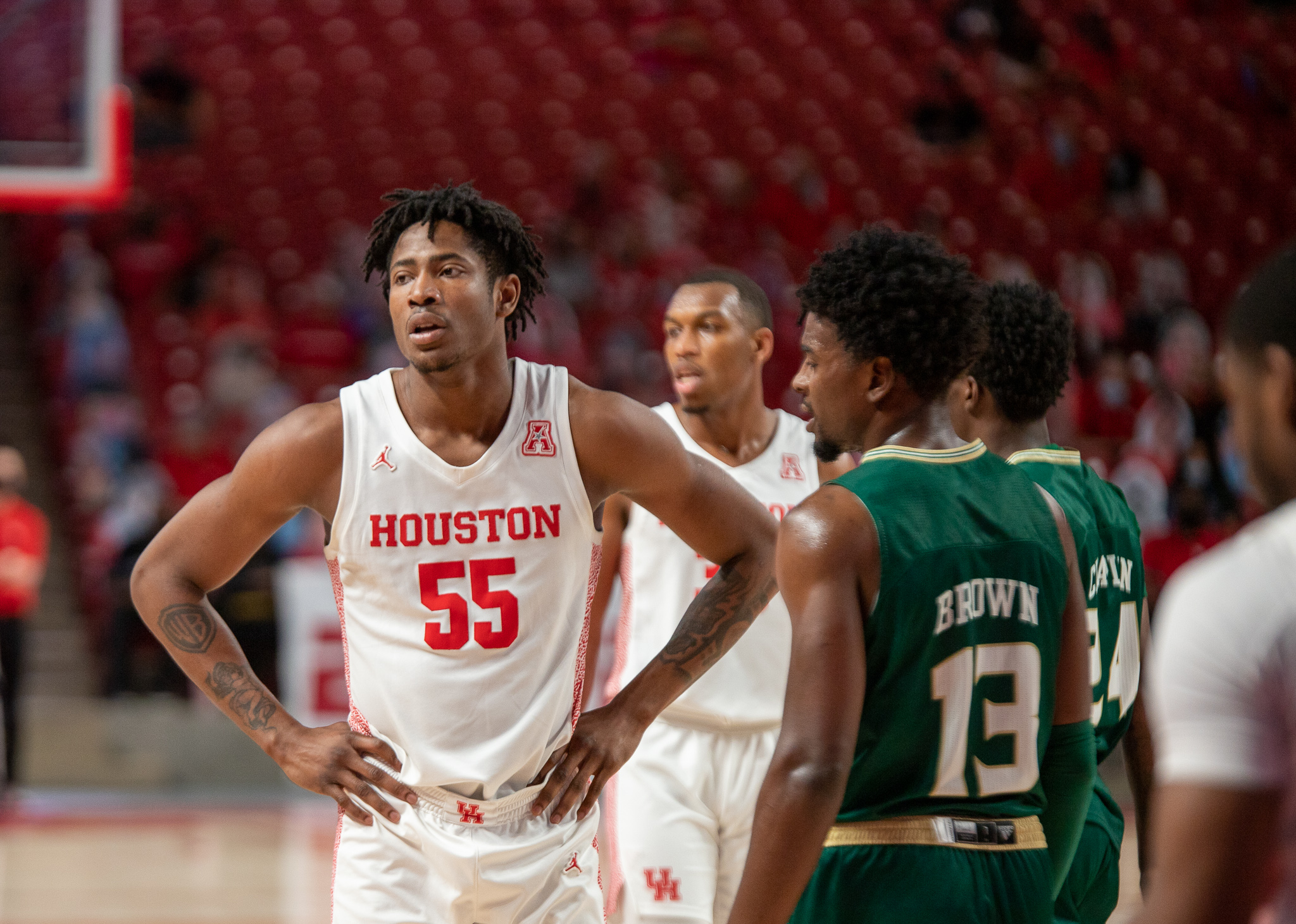 UH forward Brison Gresham played 99 games during his three years as a Cougar, playing an integral role in the program's success. | Andy Yanez/The Cougar